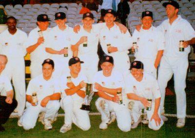 St Annes CC 1st XI Lancashire Cup Winners 1997 - Pro Eldine Baptiste