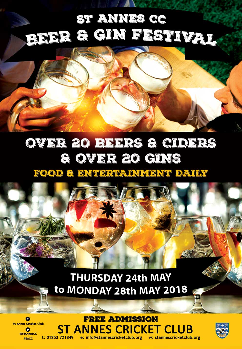 St Annes CC Beer & Gin Festival 24-28 May 2018