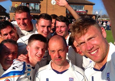 Andrew 'Freddie' Flintoff playing for St Annes CC 1st XI May 2014