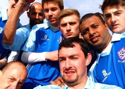 St Annes CC 1st XI T20 team selfie 2014