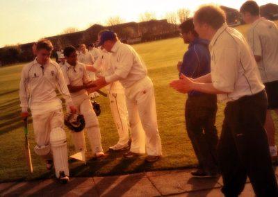 St Annes CC Sunday 1st XI 2014 batsmen Tom Bradley & Ricky parmar