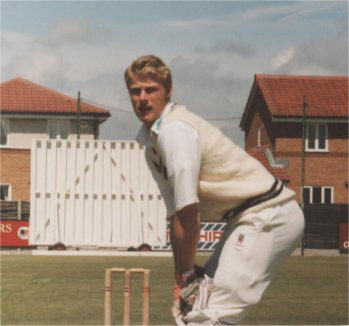 A young Andrew Flintoff in 1996 playing for St Annes CC