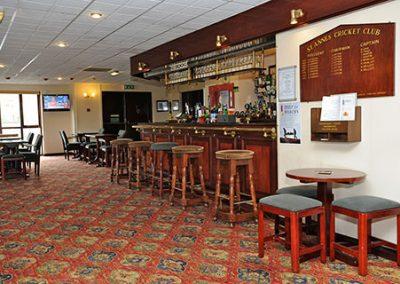 St Annes CC clubhouse bar