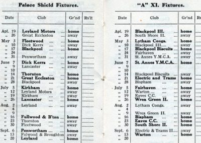1930 St Annes CC cricket fixtures
