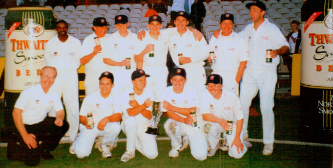 St Annes CC 1st XI Lancashire Knock Out Cup Champions 1997 at Old Trafford