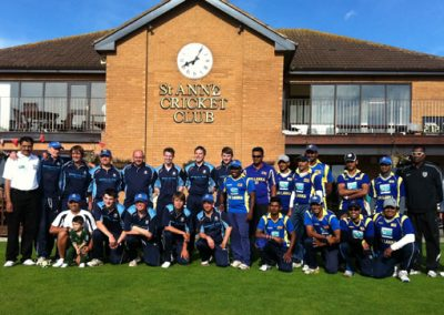 1st XI Professional Dinuk Hettiarachchi benefit match St Annes v Sri Lanka XI Aug 2012