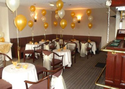 St Annes CC function room hire for a wedding in 2012