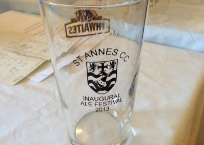 St Annes CC beer festival glass 2013