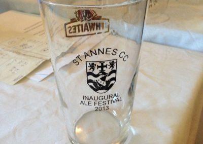 St Annes CC beer festival glass 2013