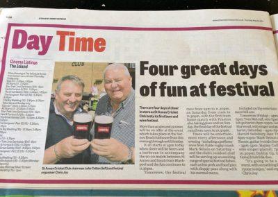 St Annes CC inaugural Beer Festival 2013