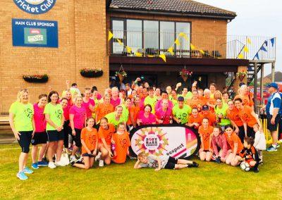 70 women & girls had fun at the 1st St Annes CC Women's SoftBall Festival 2018