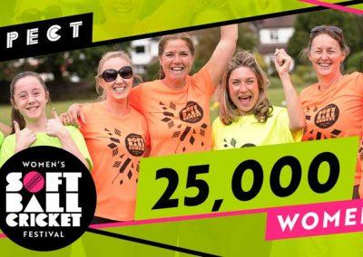 Over 25,000 women & girls have taken part in Womens Soft Ball Cricket Festivals across England