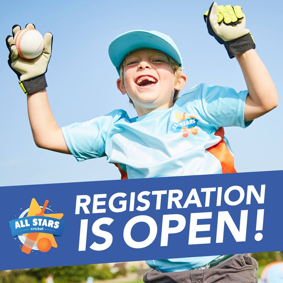 All Stars Cricket Registration Is Open 27 Feb 2018 - St Annes CC Lancashire