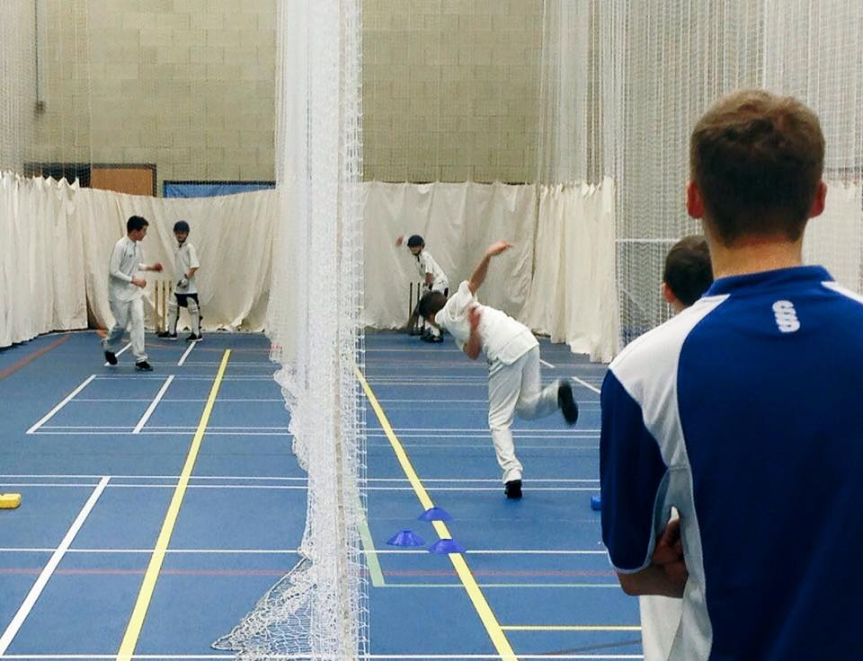 Junior indoor nets batting & bowling coaching - St Annes Cricket Club at AKS Sports Hall
