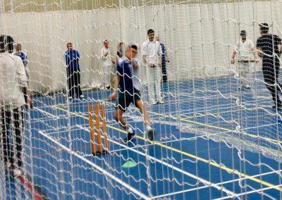 Junior indoor bowling practice St Annes Cricket Club