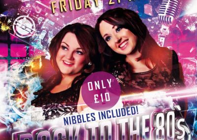 Back to the 80s Ladies Night 2017 with Sister Rendition 80s duo at St Annes CC