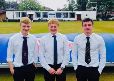 The 1st ever Northern Premier Cricket League U18s team in 2018 - 3 St Annes players Alex Bradley, Nathan Bend & Andy Drake