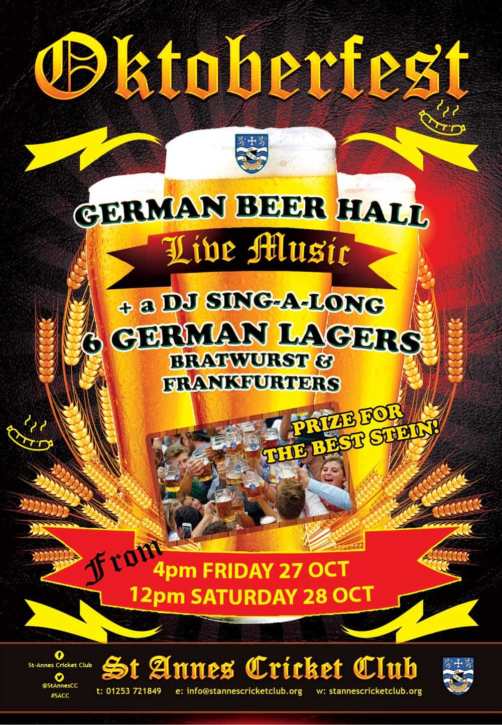Oktoberfest Beer & Lager festival 2017 St Annes Cricket Club