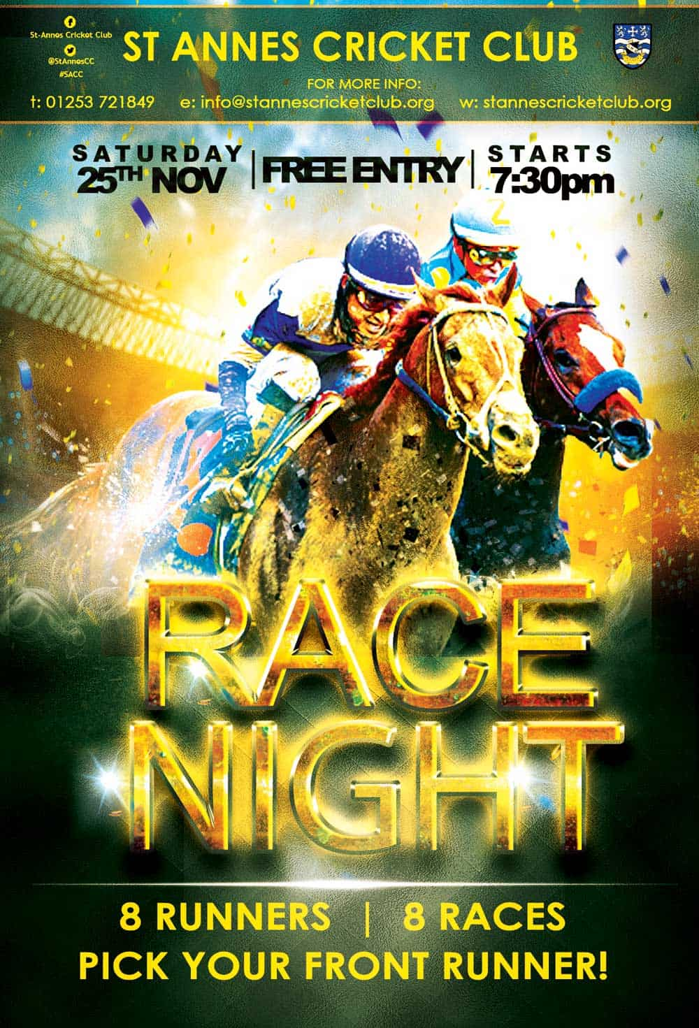 All the thrill of the chase at Race Night 2017 - St Annes Cricket Club