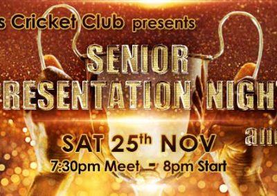 Senior Cricketers Presentation Awards Night & Race Night at St Annes CC