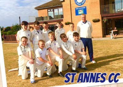 U11 2018 St Annes CC - Manager Neil Bradley