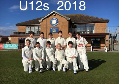 U12 XI 2018 team - St Annes Cricket Club - labelled