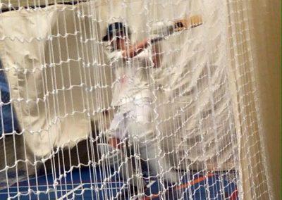 Junior indoor batting practice St Annes Cricket Club