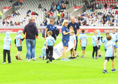 St Annes CC All Stars Cricket demo at Lancs CCC England v South Africa Test Match Aug 2017