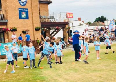 All Stars Cricket bowling game with coach Neil Bradley St Annes CC 2018
