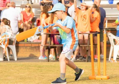 All Stars Cricket boy practicing his batting