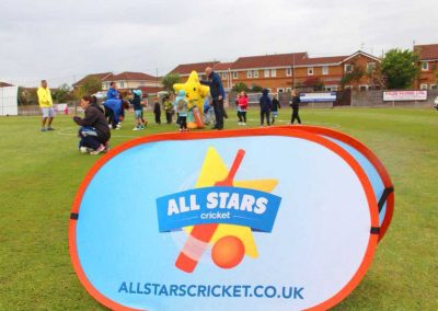 All Stars Cricket pre session warm-up at St Annes CC