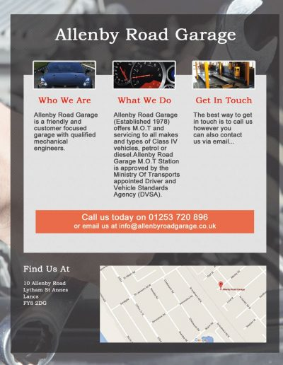 Allenby Rd Garage sponsors St Annes CC