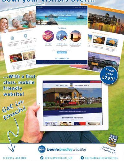 Bernie Bradley Websites sponsors St Annes CC
