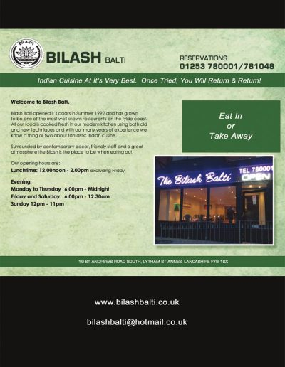 Bilash sponsors St Annes CC
