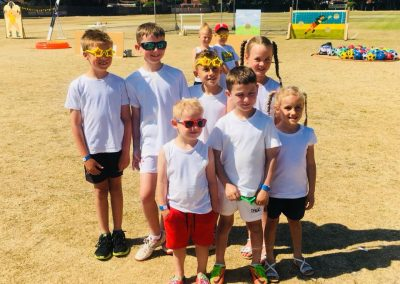 Children about to join in the Colour Run