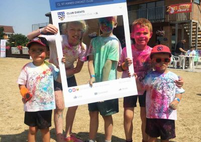 Colour Run 2018 group of runners