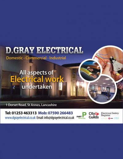 Danny Gray Electrical sponsors St Annes CC