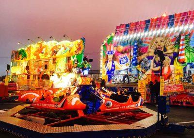 Children's rides at our Firework Extravaganza