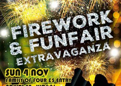Fireworks & Funfair Extravaganza 2018 - firework display St Annes Cricket Club