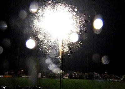 Spectacular fireworks over the cricket ground at St Annes CC