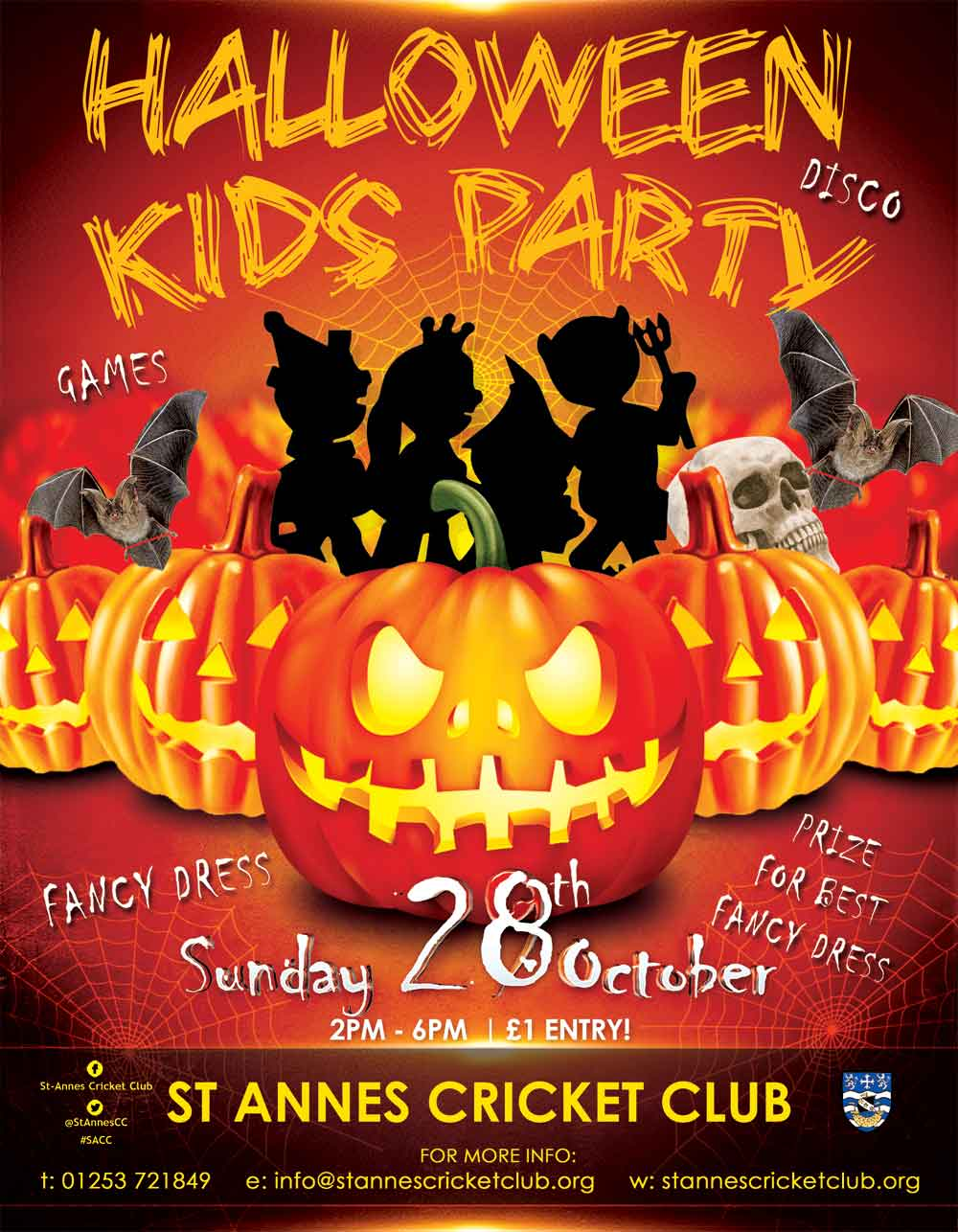 SPOOKY Halloween kids party & disco at St Annes CC