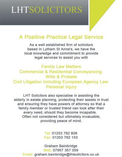 LHT Solicitors sponsors St Annes CC