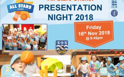 All Stars Cricket Presentation Night 2018