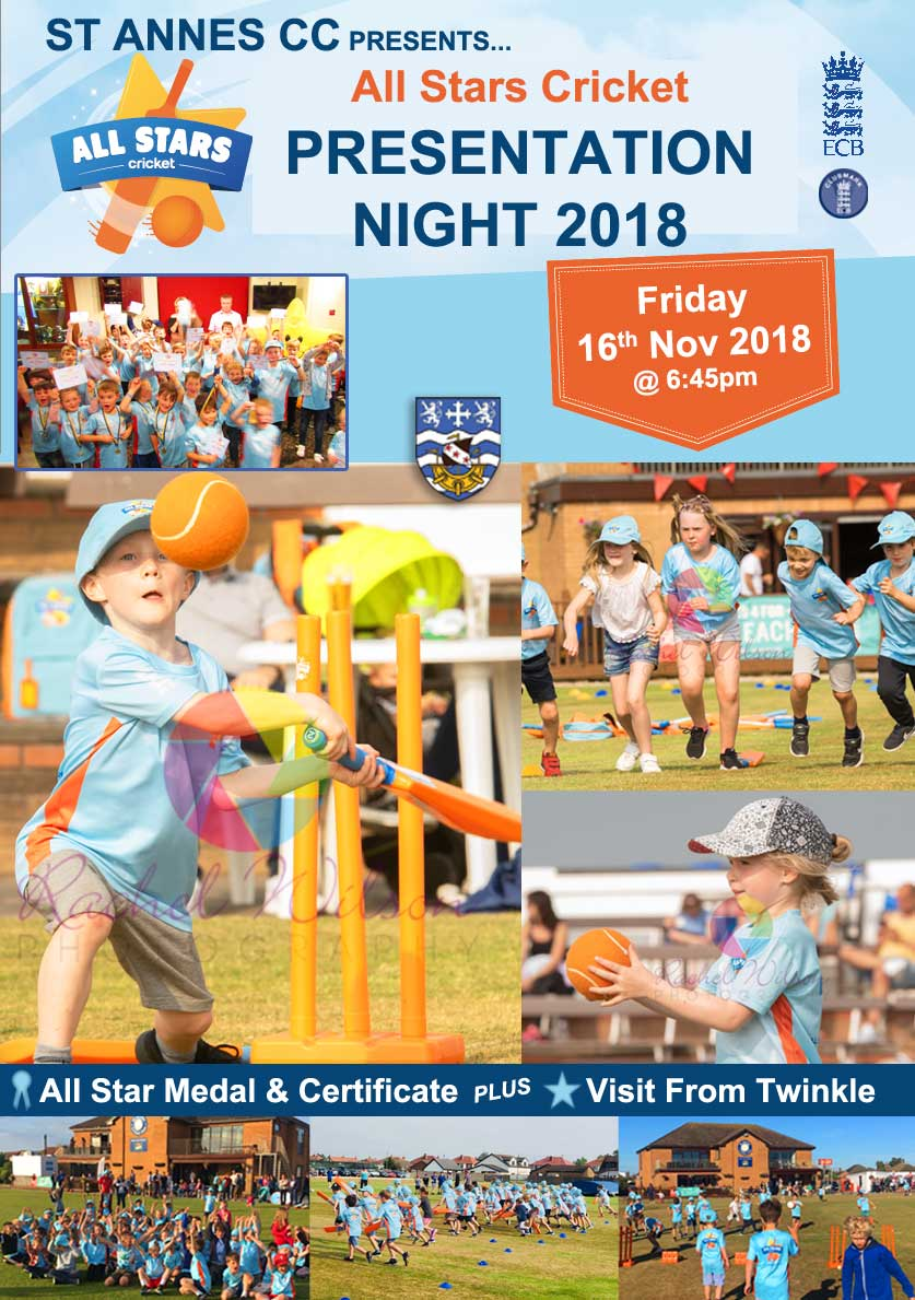 All Stars Cricket Presentation Night 2018 at St Annes CC