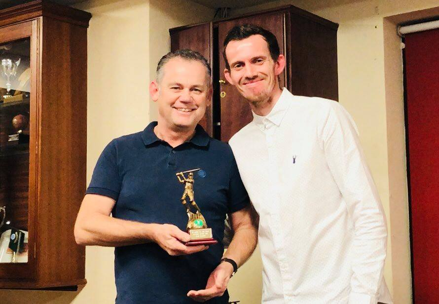 Presentation Night 2018 2nd XI Batting Award Dave Watson