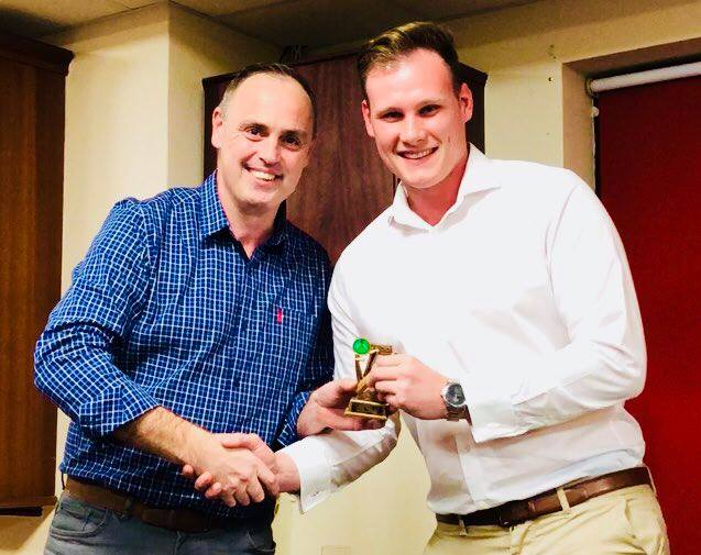 Presentation Night 2018 1st XI Fielding Award Capt Nathan Armstrong