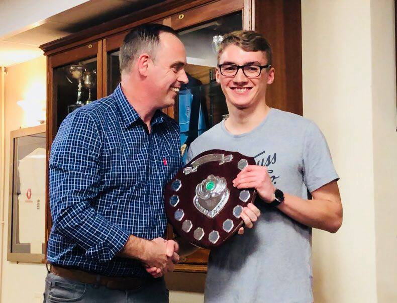 Presentation Night 2018 Graham Tindall Trophy Award Tom Bradley