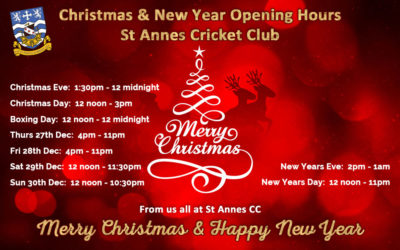 Xmas & New Year Opening Hours 2018