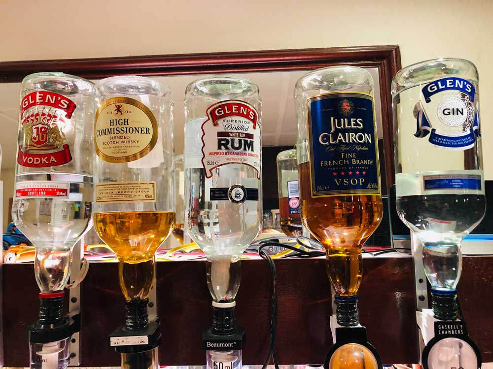 Doubles bar only £2 for any of these spirits at St Annes CC