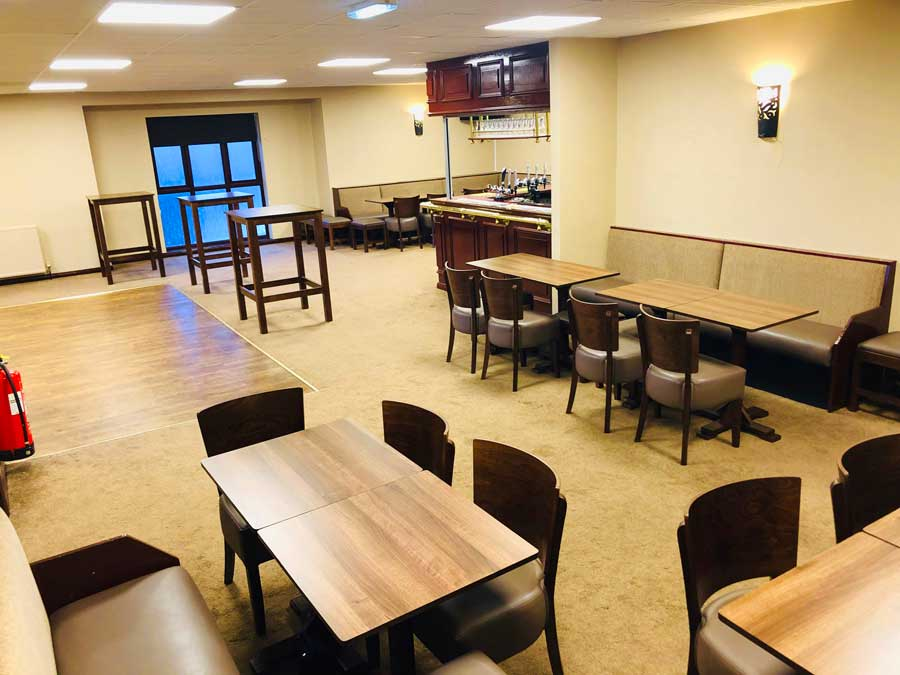 Function room seating area & bar
